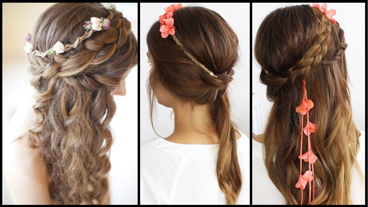 Halboffene Frisuren Festlich  Haarband Frisur Hochzeit Abiball festliche Anlässe