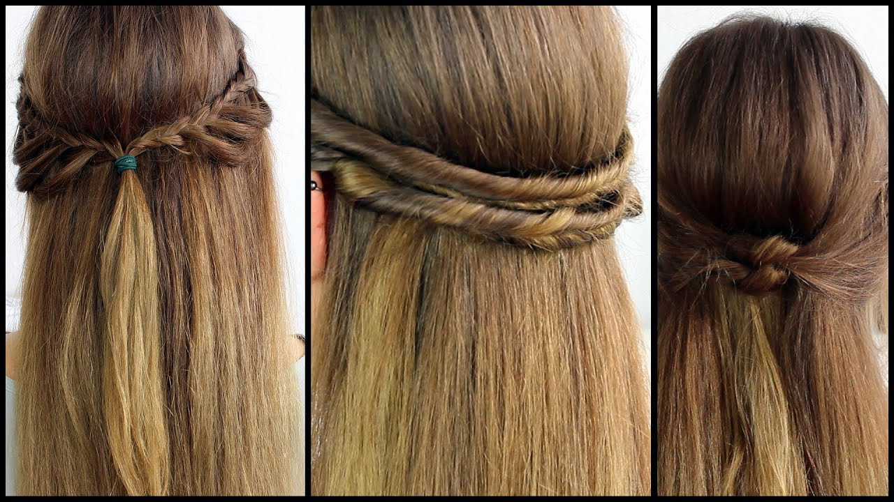 Halboffene Frisuren Festlich  halboffene Haare schnell und einfach gestyled [Frisuren