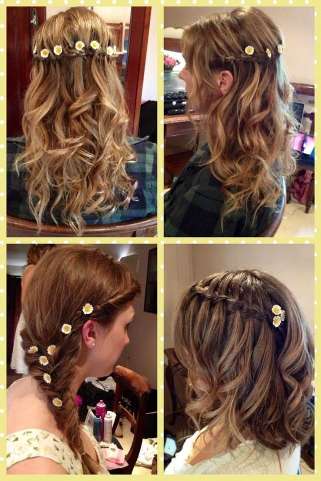Halboffene Frisuren  Elegante Brautjungfer Frisuren für den großen Tag