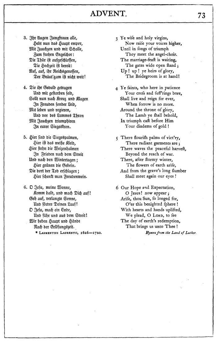 Hallelujah Text Hochzeit  Ermuntert euch ihr Frommen