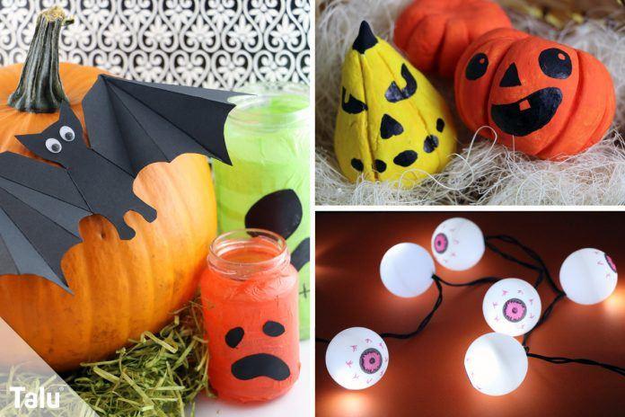 Halloween Geschenke  Basteln an Halloween Anleitung für 11 Bastelideen Talu