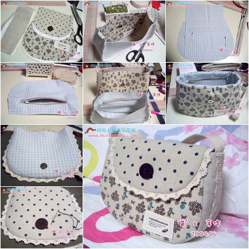 Handbad Diy  DIY How to Sew a Simple Summer Handbag