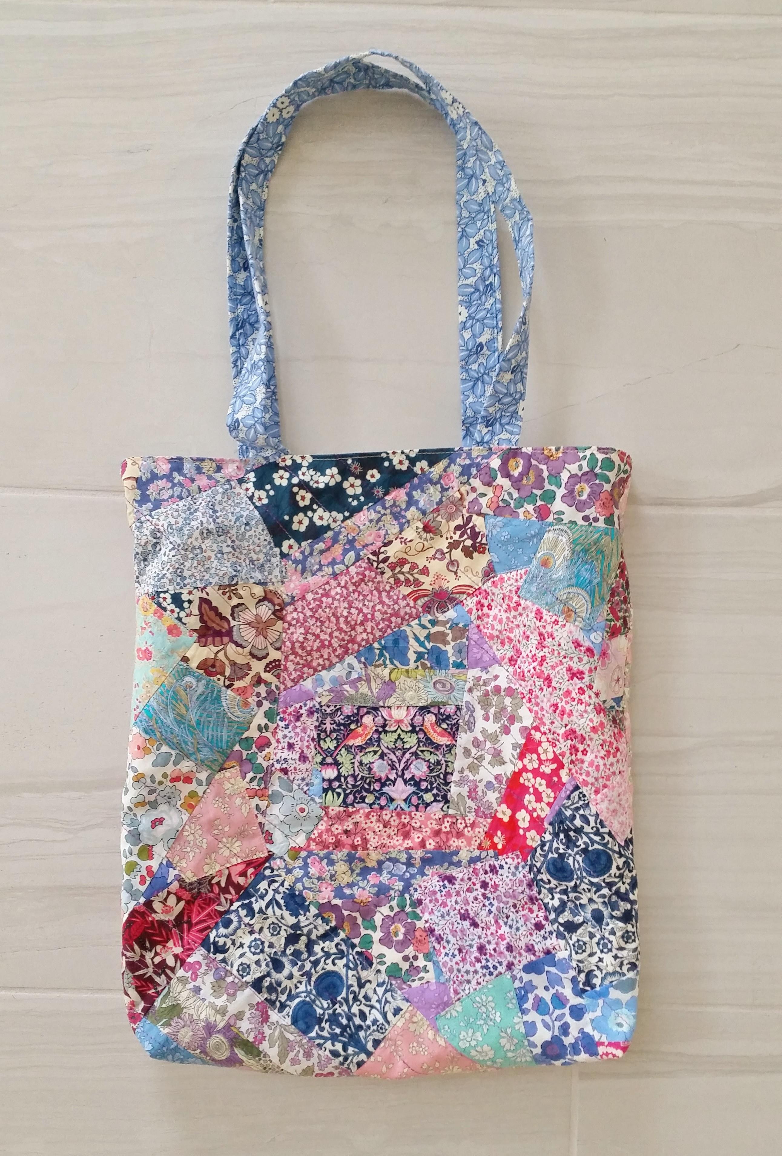 Handbad Diy  DIY Liberty London Patchwork Tote Bag