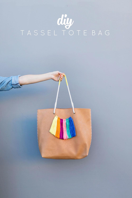 Handbad Diy  DIY TASSEL TOTE BAG Tell Love and Party