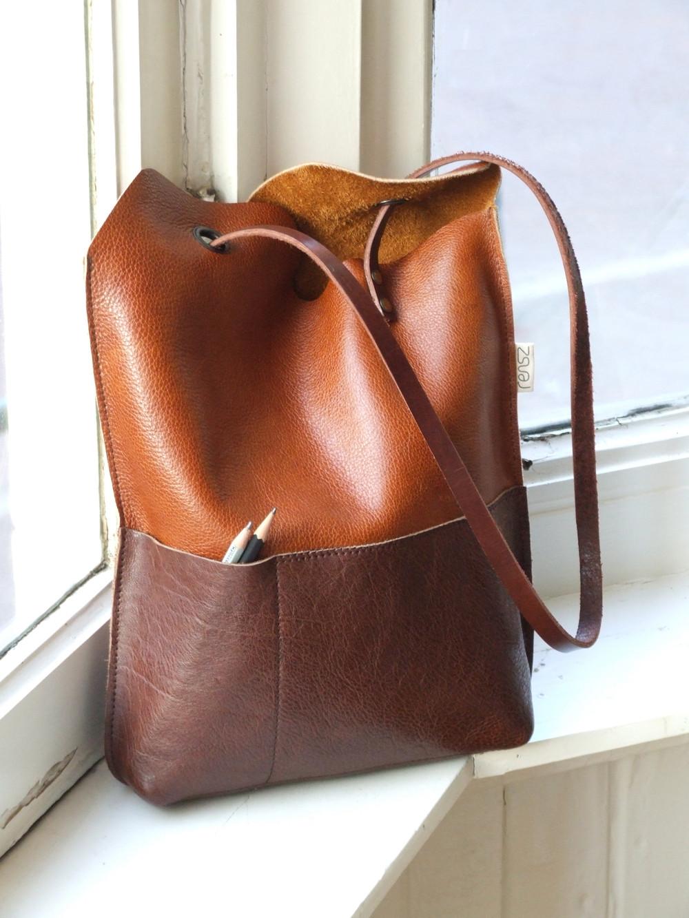 Handbad Diy  leather Yin Yang bag – Sewing Projects