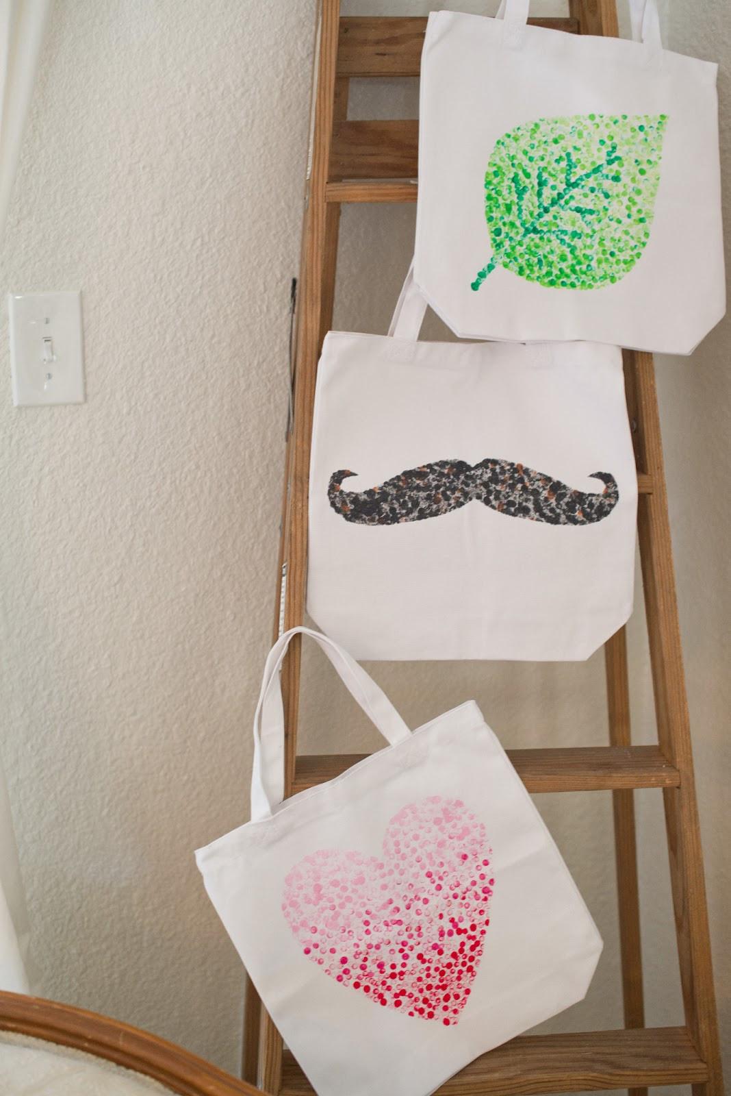 Handbad Diy  Domestic Fashionista DIY Eraser Stamped Tote Bag Tutorial