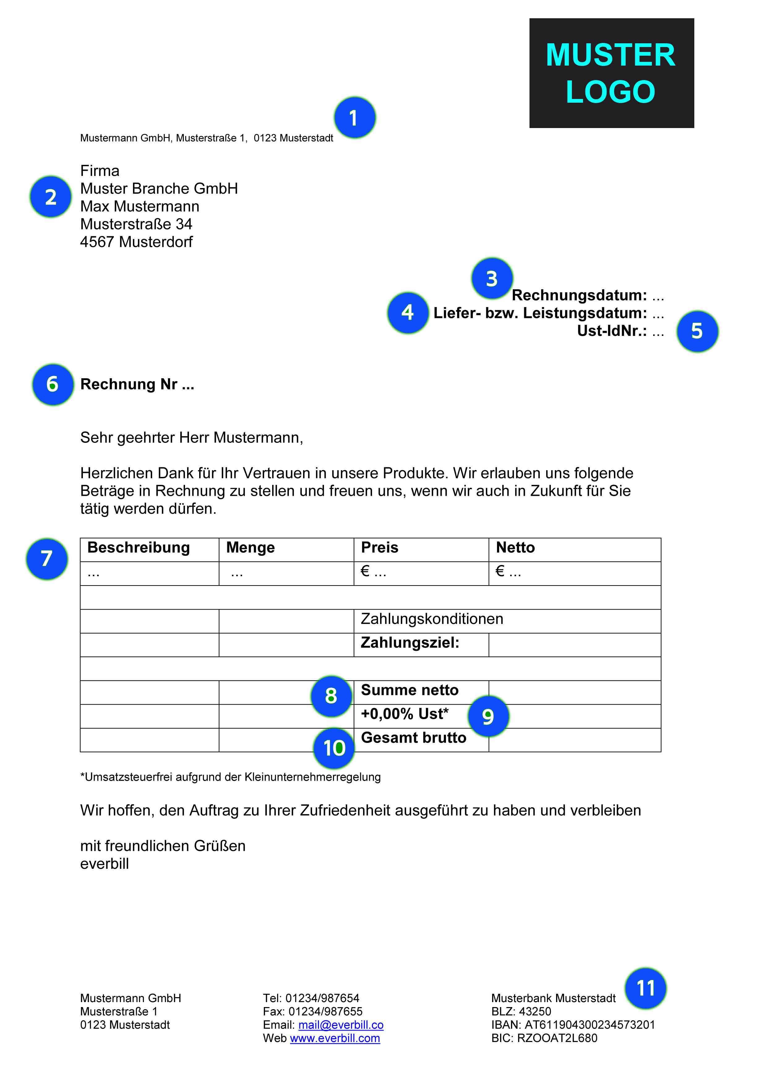 Handwerk Definition  Musterrechnung Handwerk kostenlos herunterladen everbill