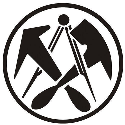 Handwerk Logo  Aufkleber Dachdecker Logo Handwerk Dachdeckerzeichen