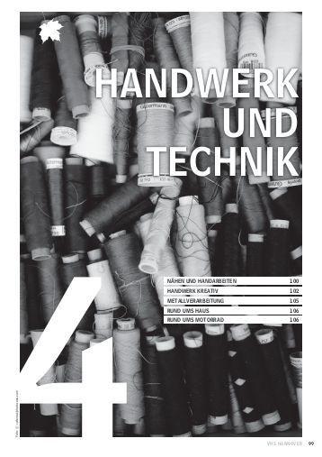 Handwerk Und Technik  Produktionsverfahren im Handwerk Christiani Schule