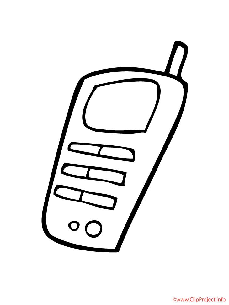 Handy Ausmalbilder  Handy Malvorlage kostenlos
