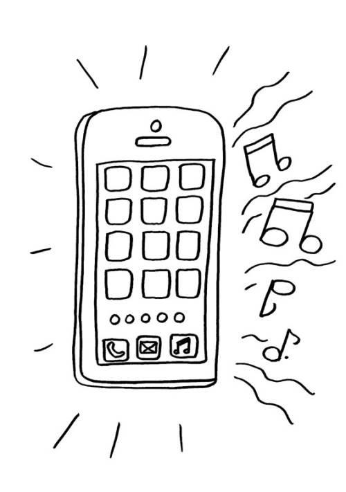 Handy Ausmalbilder  Kostenlose Malvorlage Handy Handy zum Ausmalen