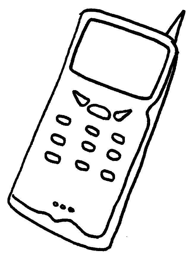 Handy Ausmalbilder  Malvorlagen Gegenstände