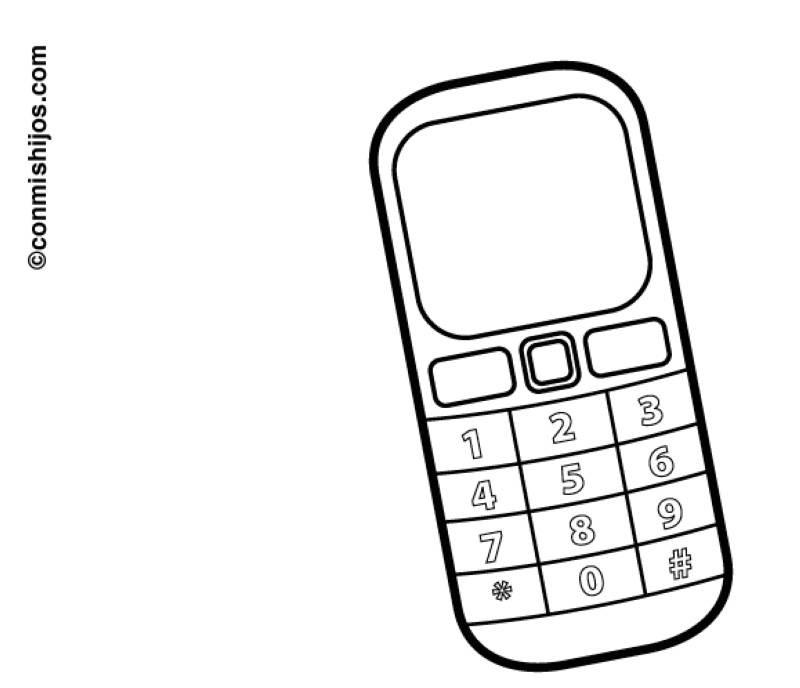 Handy Ausmalbilder  Kostenlose Malvorlage Schule Handy zum Ausmalen
