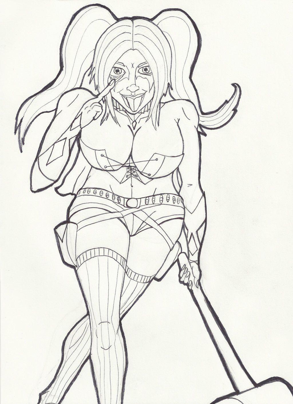 Die Besten Ideen Für Harley Quinn Ausmalbilder - Beste ...