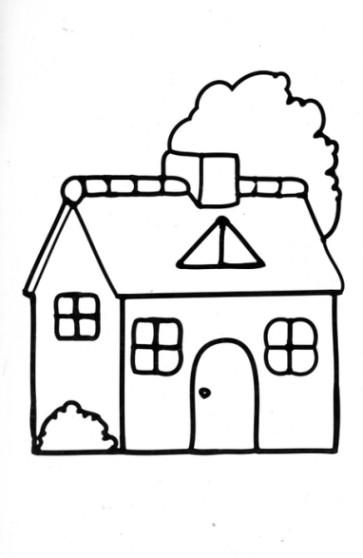 Haus Ausmalbild  Ausmalbilder Haus Malvorlagen ausdrucken 3