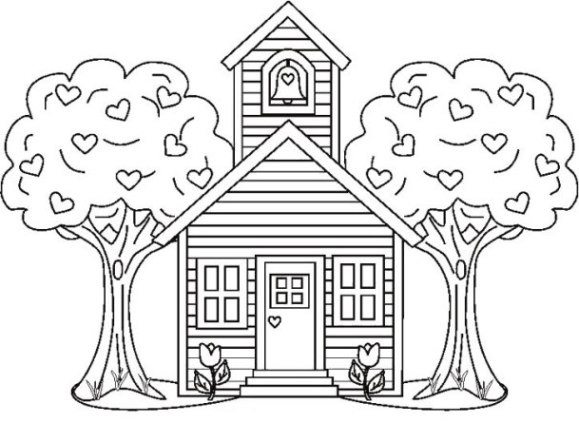 Haus Ausmalbild  Vorlagen zum Ausdrucken Ausmalbilder Haus Malvorlagen 1