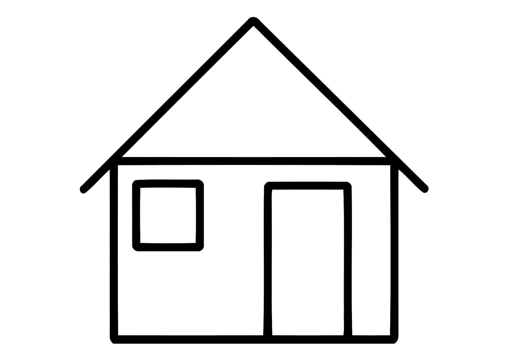 Haus Ausmalbild  Malvorlage Haus