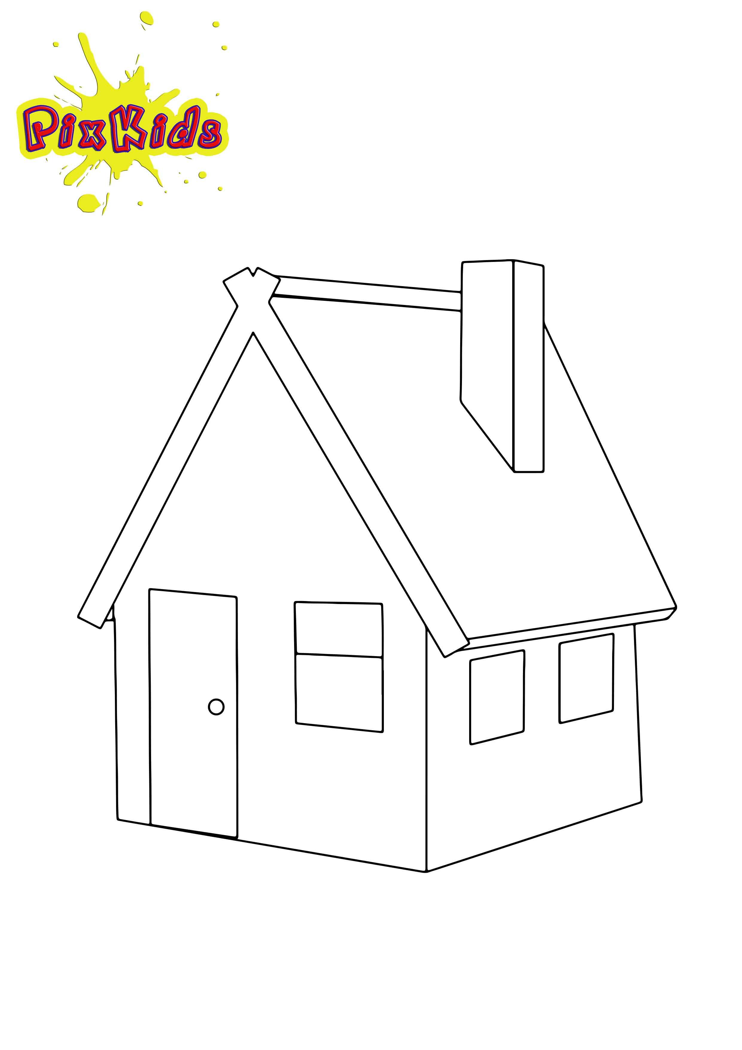 Haus Ausmalbild  Haus Archive kostenlose Malvorlagen