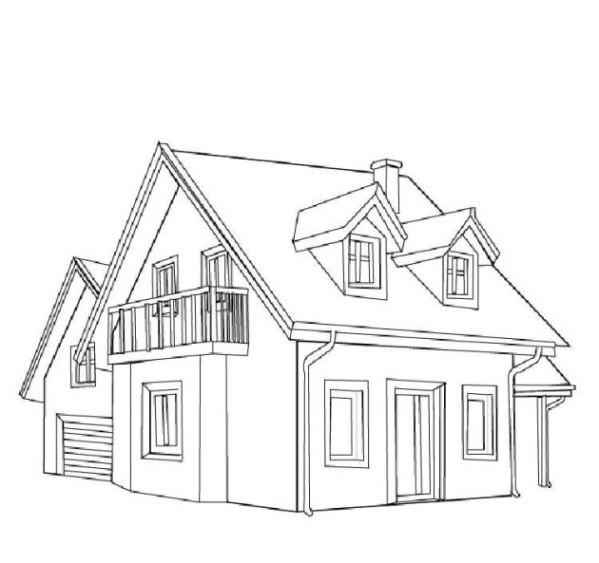 Haus Ausmalbild  Haus malvorlagen kostenlos zum ausdrucken Ausmalbilder