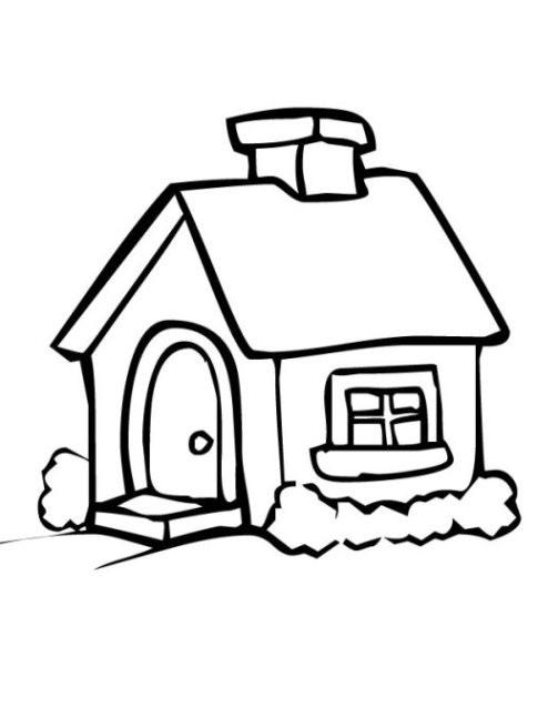 Haus Ausmalbild  Malvorlagen zum Ausmalen Ausmalbilder Haus gratis 2