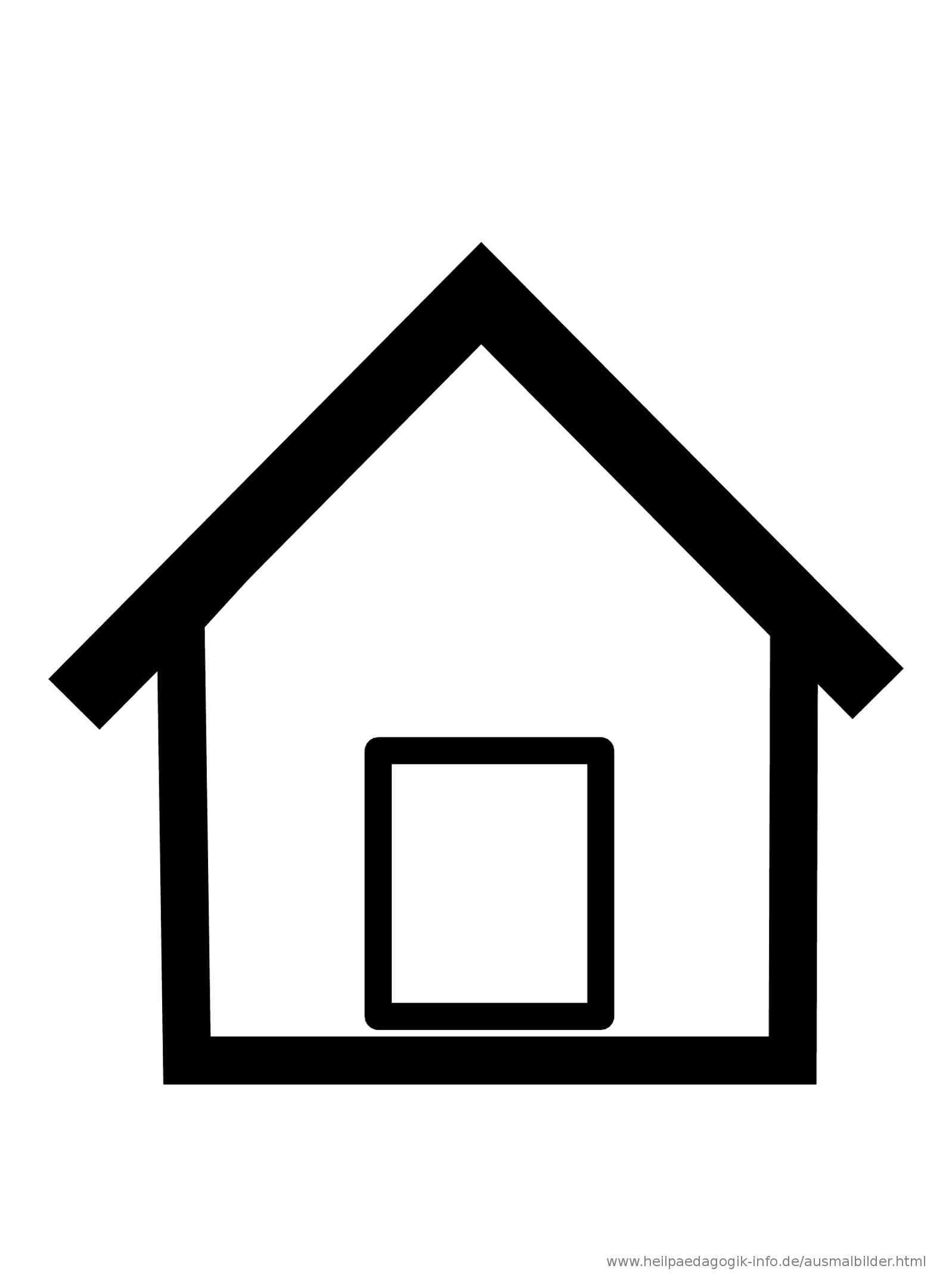 Haus Ausmalbild  Ausmalbilder Häuser und Gebäude