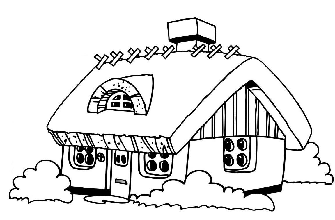 Haus Ausmalbild  Ausmalbilder Malvorlagen – Haus kostenlos zum Ausdrucken