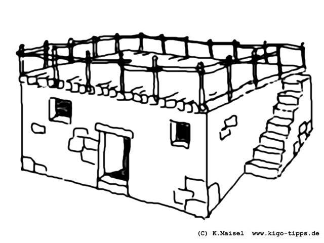 Haus Ausmalbild  Salz der Erde Die KiGo Tipps Kindergottes nst