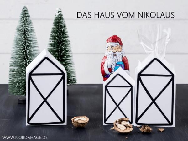 Haus Vom Nikolaus  DIY Das Haus vom Nikolaus kostenlose Druckvorlage