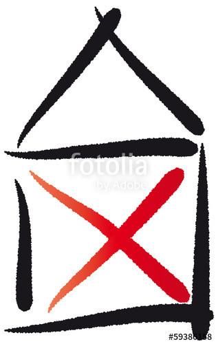 """Haus Vom Nikolaus  """"Haus vom Nikolaus abstraktes Symbol Strichzeichnung"""
