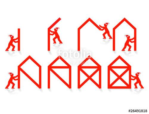 """Haus Vom Nikolaus  """"Das ist das Haus vom Nikolaus"""" Stockfotos und lizenzfreie"""