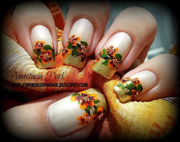 Herbstliches Nageldesign  Fall Nail Art