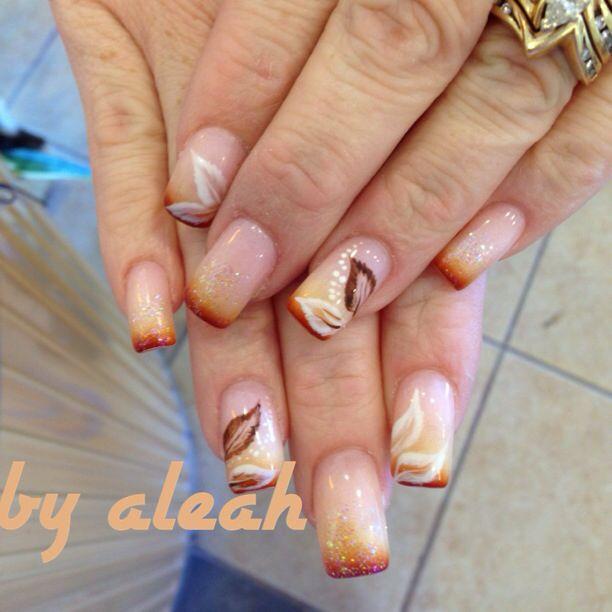 Herbstliches Nageldesign  Fall nail designs nägel Pinterest