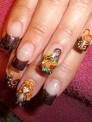 Herbstliches Nageldesign  21 Non Ugly Holiday Nail Designs You ll Actually Want to