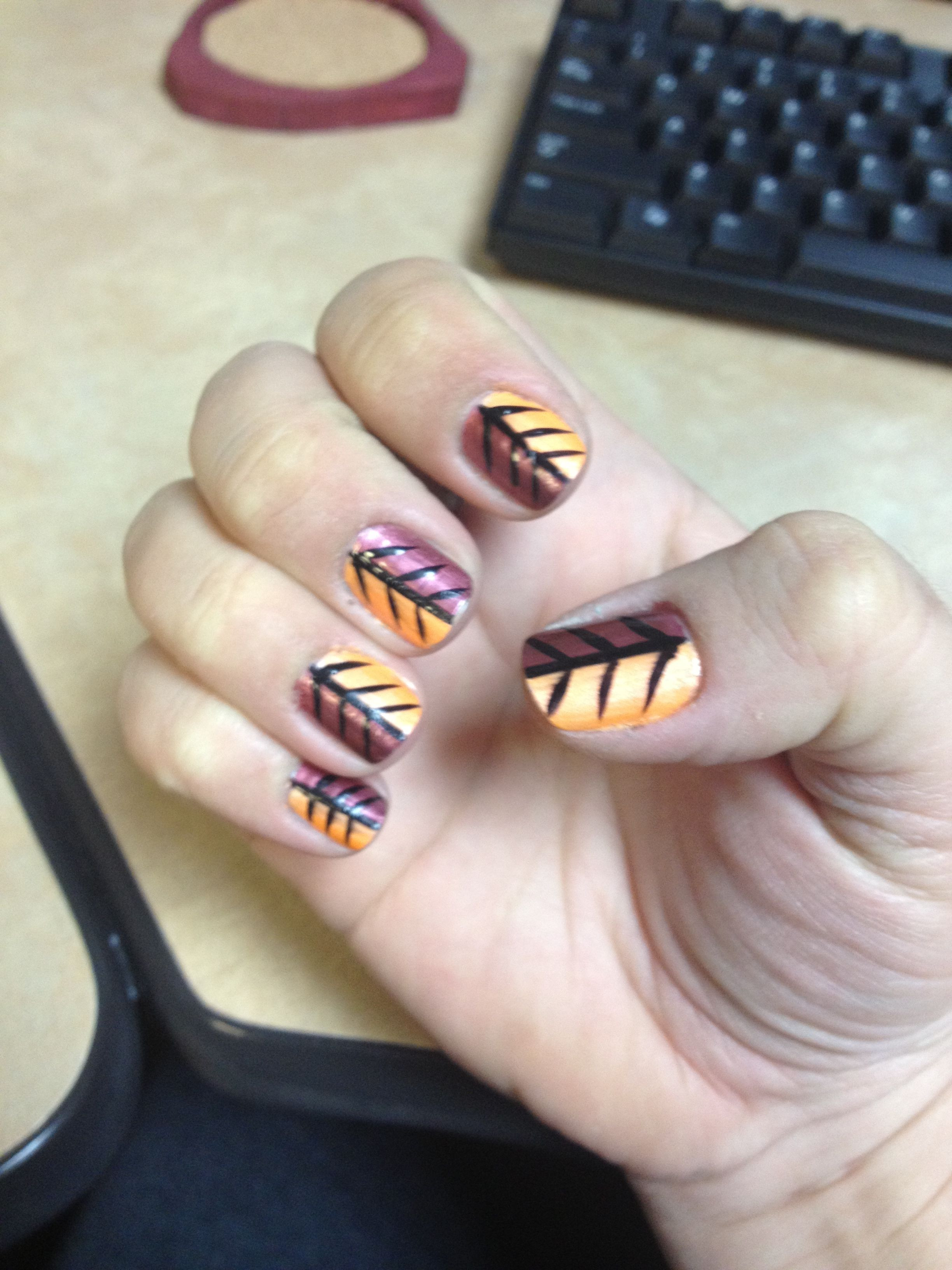 Herbstliches Nageldesign  Fall Nail Art Nails