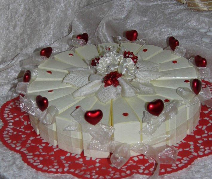 Herztorte Hochzeit  Herztorte Romantika Bomboniere Hochzeit danksagung für Gäste