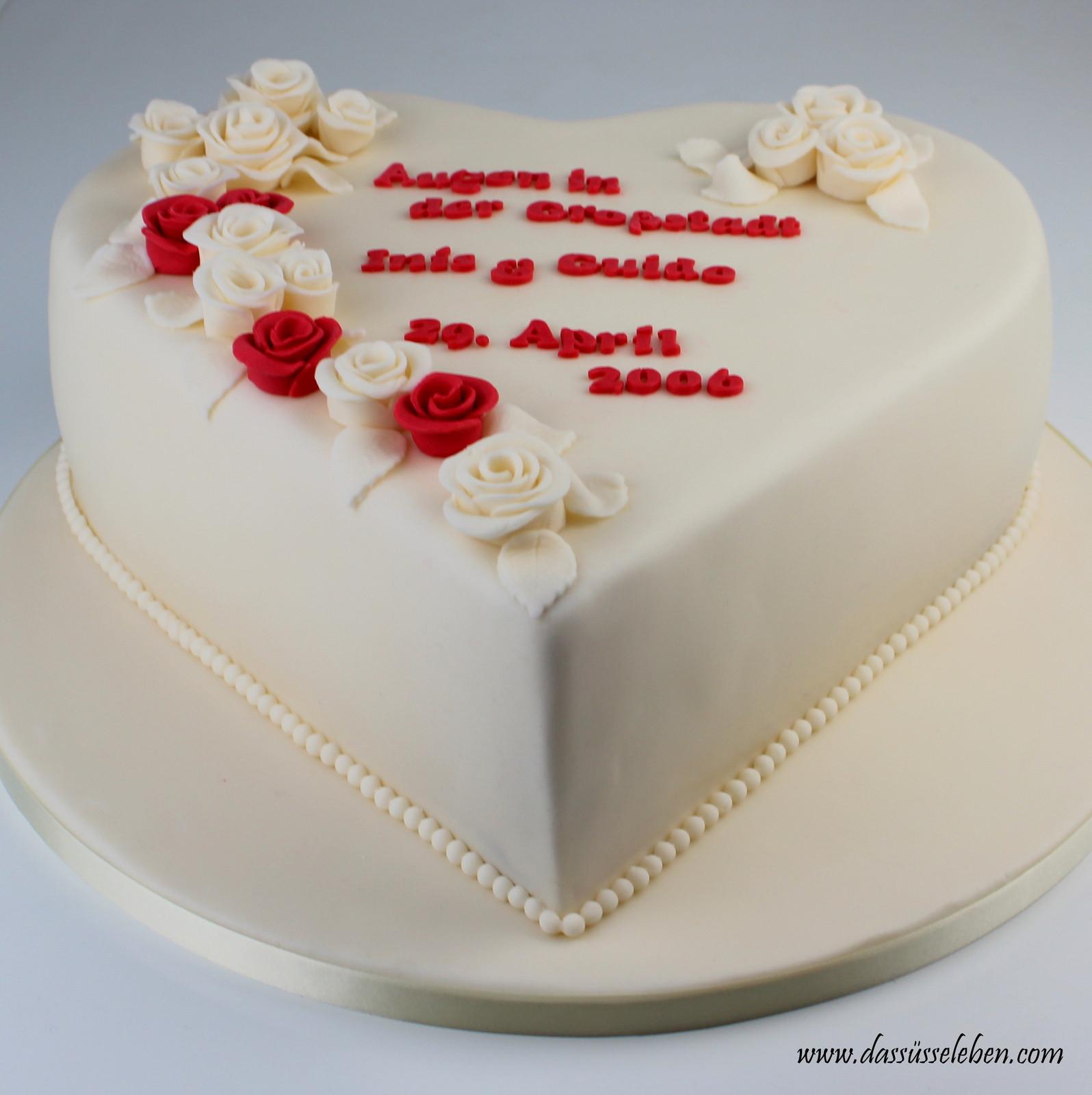Herztorte Hochzeit  Rezept Herztorte mit Rosen zum 10 Hochzeitstag