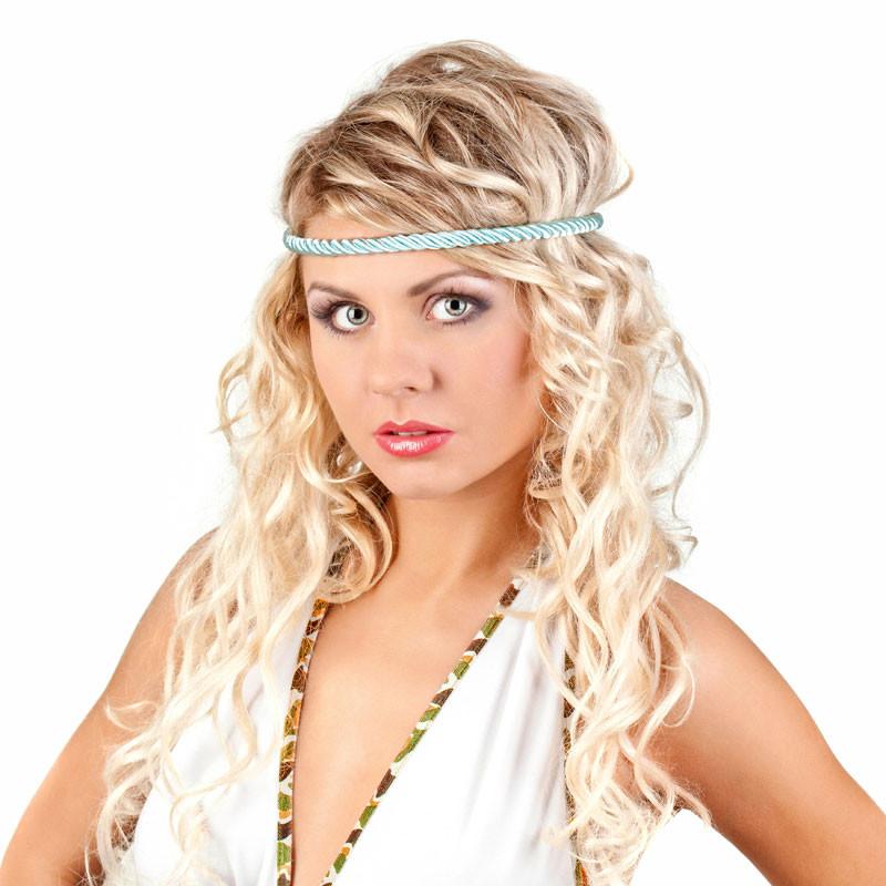 Hippi Frisuren  Blonde Hippie Frisur im Ombré Look Blonde lange Haare