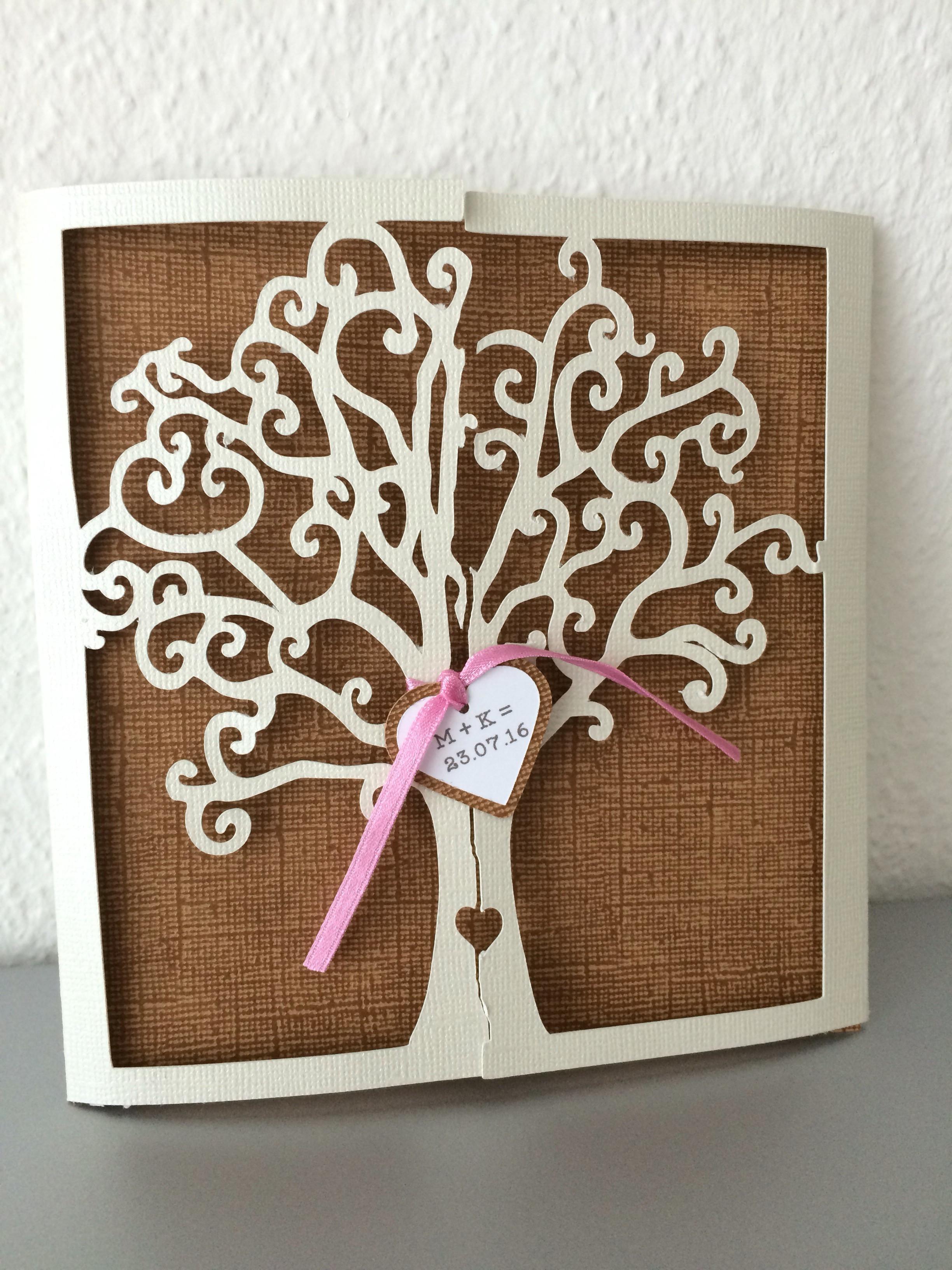 Hochzeit Wünsche Karte  Einladung zur Hochzeit Karte zur Hochzeit Baum