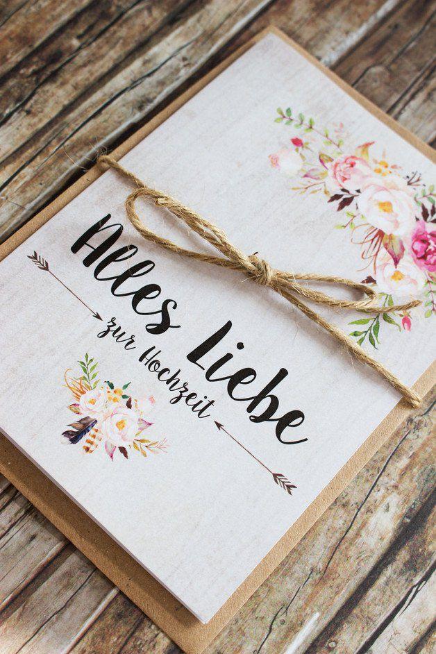 Hochzeit Wünsche Karte  Die 25 besten Ideen zu Glückwunschkarte hochzeit auf
