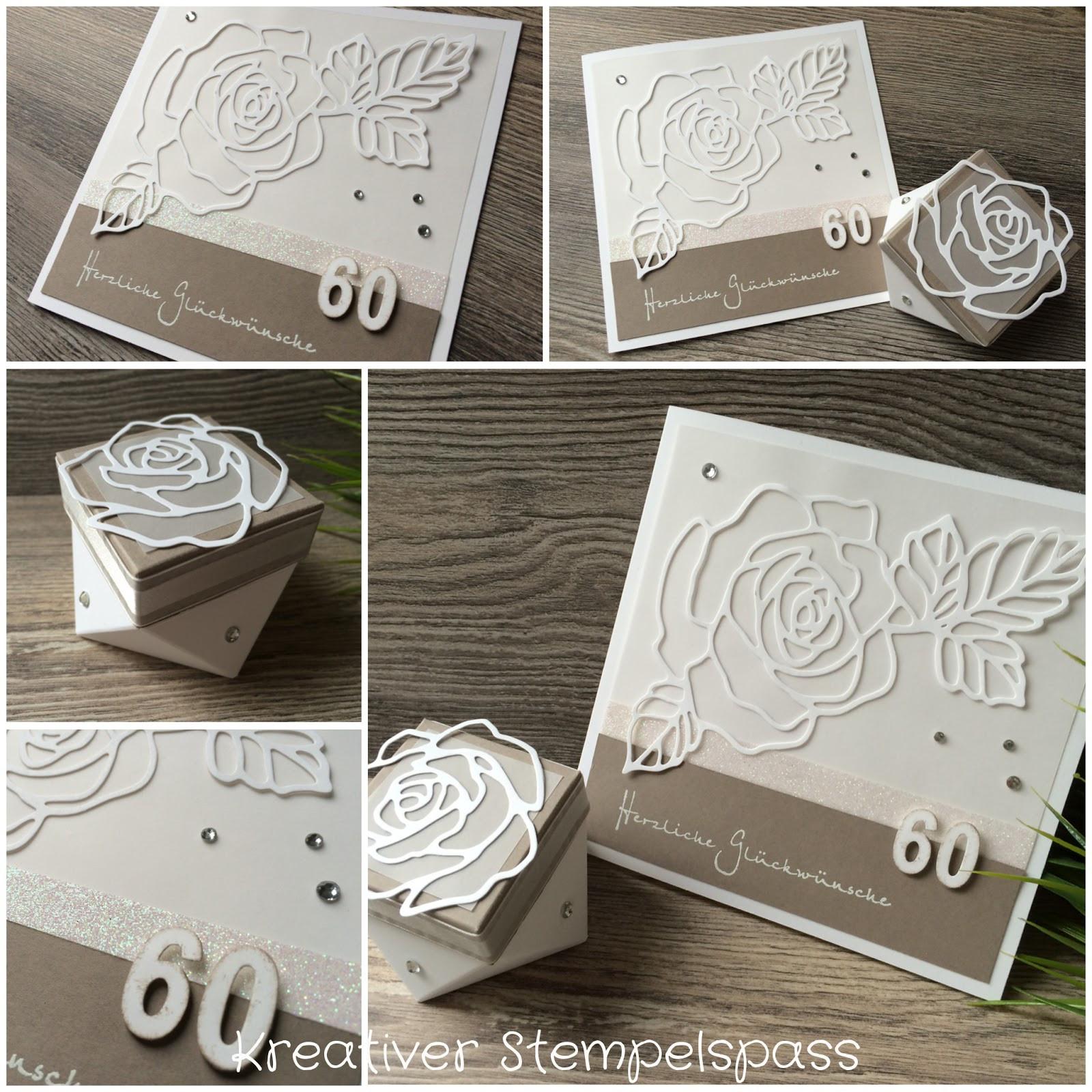 Hochzeit Wünsche Karte  Kreativer Stempelspaß Diamantene Hochzeit