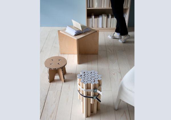 Hocker Diy  DIY Simpler Hocker aus HolzstielenGeschnackvoll