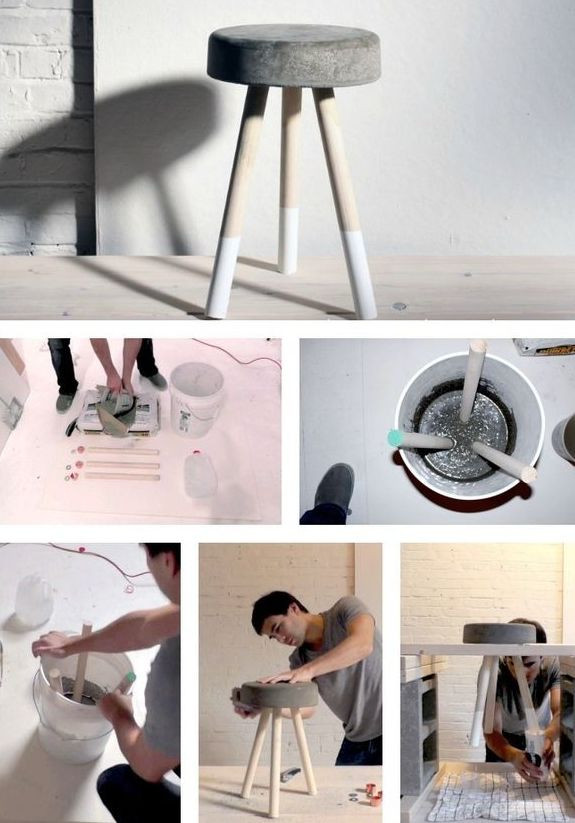 Hocker Diy  DIY Hocker aus beton fresHouse