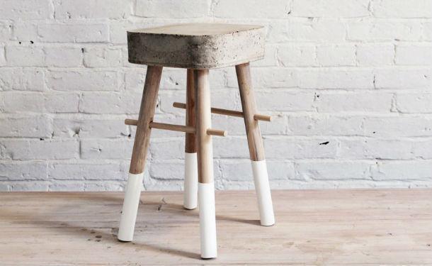Hocker Diy  DIY Hocker aus Holz und Beton GeschnackvollGeschnackvoll
