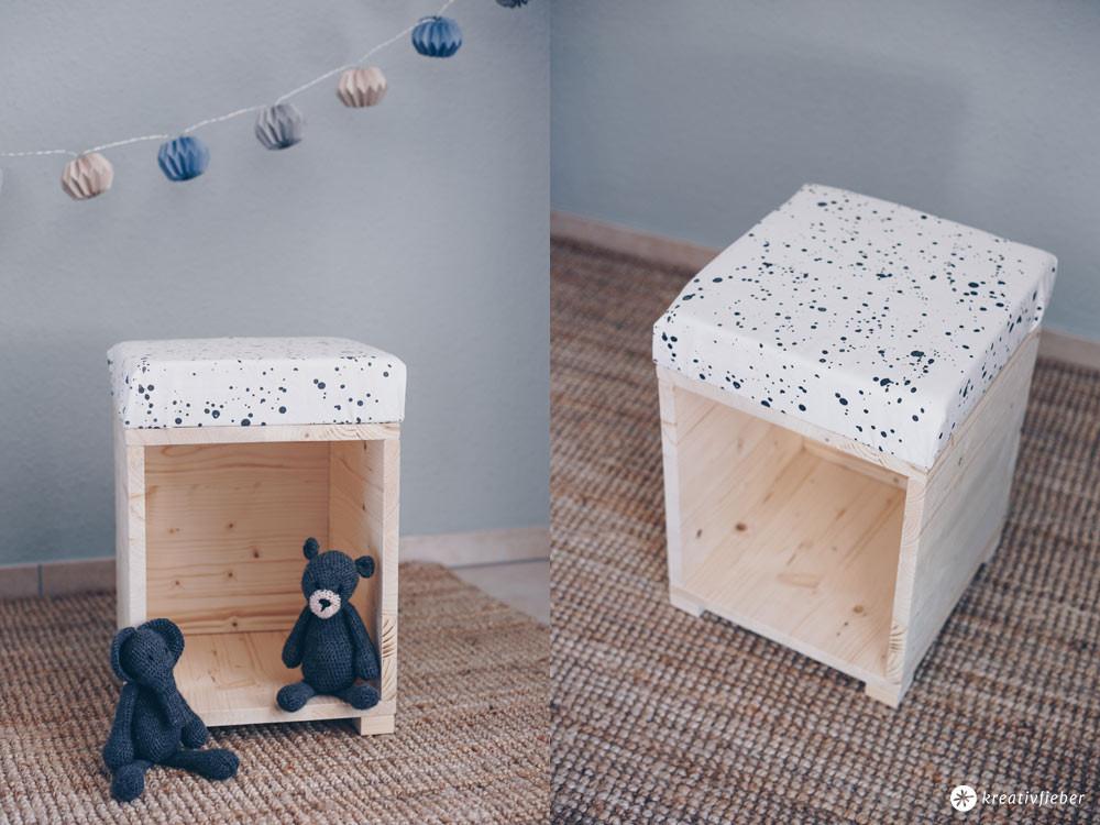 Hocker Diy  DIY Hocker fürs Kinderzimmer zum Spielen Möbel