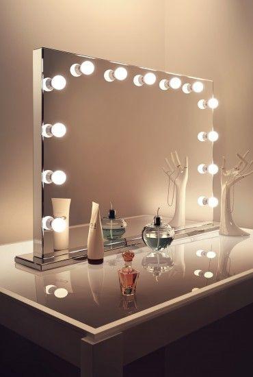 Hollywood Spiegel Diy  DIY Vanity Mirror With Lights for Bathroom and Makeup