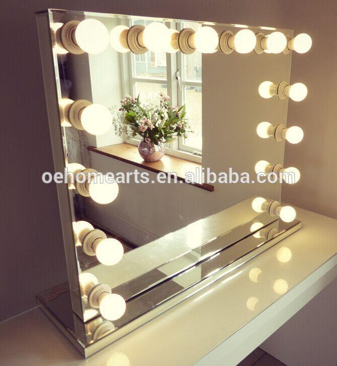 Hollywood Spiegel Diy  Chic Hollywood stil eitelkeiten und spiegel Mit Lampen