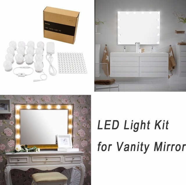 Hollywood Spiegel Diy  Hollywood DIY Vanity Lights Strip Kit voor Verlichte Make