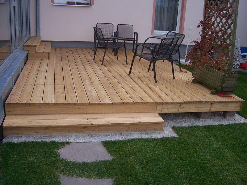 Holz Terrasse  Holzterrasse Terasse