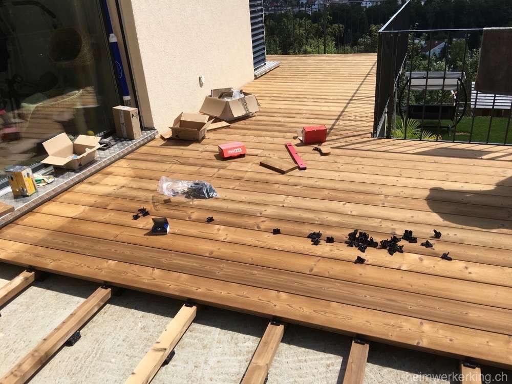 Holz Terrasse  Projekt Holz Terrasse Heimwerkerking