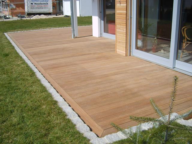 """Holz Terrasse  Blog zum Hausbau Wir bauen ein """"EcoStar3"""" von """"Heinz von"""